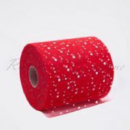 Red Sequin Tulle Roll